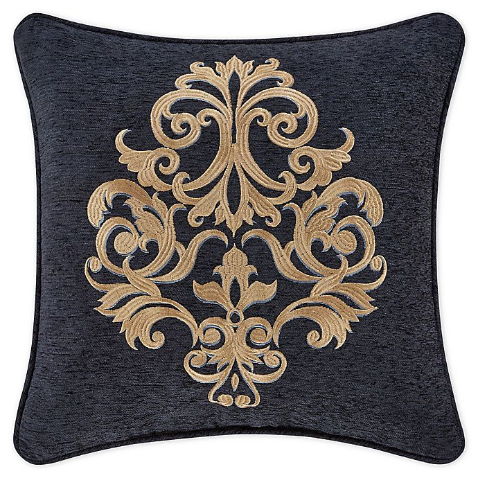 Alternate image 1 for J. Queen New York™ Luciana 18-Inch Square Throw Pillow in Indigo