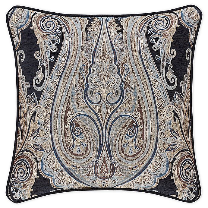 Alternate image 1 for J. Queen New York™ Luciana 20-Inch Square Throw Pillow in Indigo