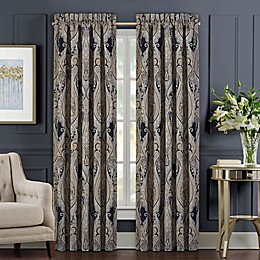 J. Queen New York™ Luciana 2-Pack 84-Inch Light Filtering Window Curtain Panels in Indigo