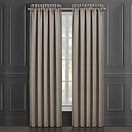 J. Queen New York™ Crestview 84-Inch Rod Pocket Window Curtain Panel in Silver