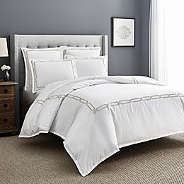 Wamsutta® Jocelyn PimaCott® Embroidered 3-Piece Duvet Cover Set