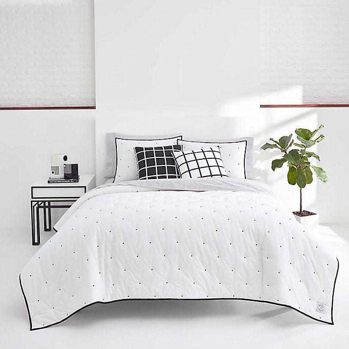 Alternate image 1 for Now House by Jonathan Adler® Pompeia Quilt Set in Black/White