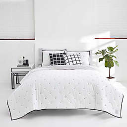 Now House by Jonathan Adler® Pompeia Quilt Set in Black/White
