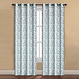 Forest Drape Grommet Window Curtain Panel in Sage