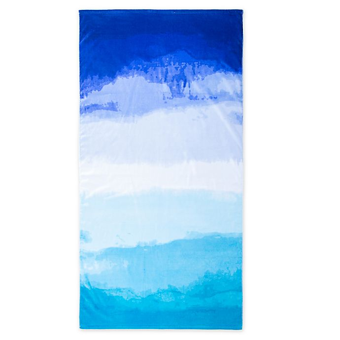 Alternate image 1 for Brookstone® Beach Towel in Blue