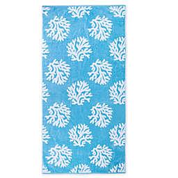 Brookstone® Jacquard Beach Towel in Baltic Blue