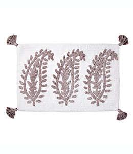 Tapete para baño con diseño texturizado de cachemira, 50.8 x 76.2 cm en gris