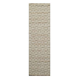 Momeni® 2'3 x 8' Metro Solid Runner Rug in Ivory