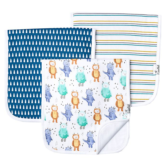Alternate image 1 for Copper Pearl 3-Pack Max Burp Cloths