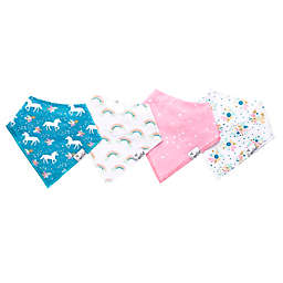 Copper Pearl 4-Pack Whimsy Bandana Bibs