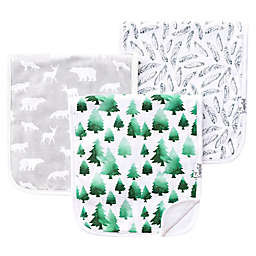 Copper Pearl 3-Pack Woodland Burp Cloths
