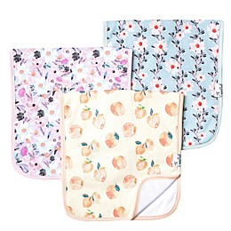 Copper Pearl™ 3-Pack Floral Burp Cloths