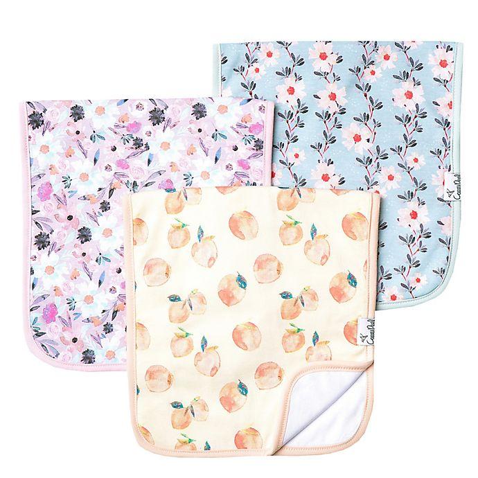 Alternate image 1 for Copper Pearl™ 3-Pack Floral Burp Cloths