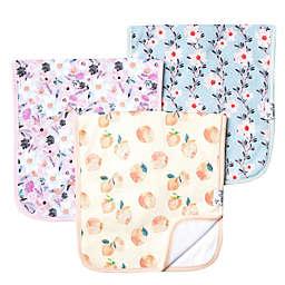 Copper Pearl™ 3-Pack Floral Burp Cloths