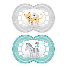 MAM Air Modern Ages 16+ Months Pacifier in Grey/Blue (2-Pack)