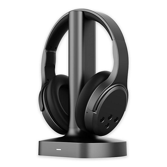 Alternate image 1 for Brookstone® Wireless TV Headphones in Black
