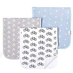 Copper Pearl Cruise 3-Pack Burp Cloths