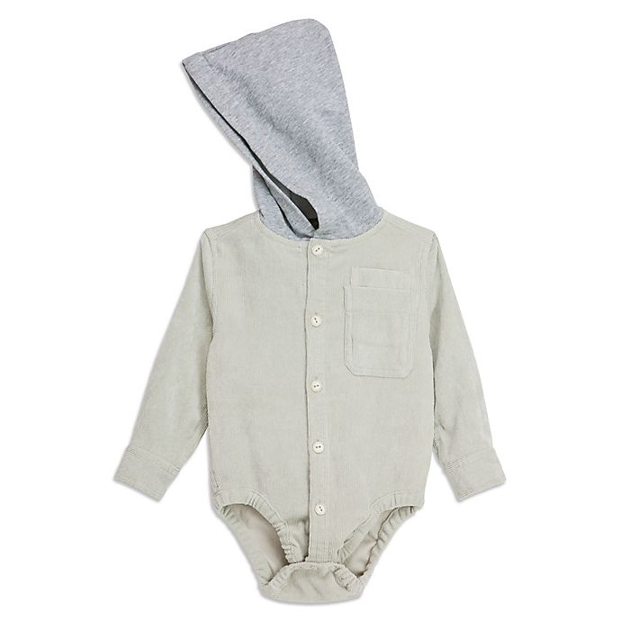 Alternate image 1 for Sovereign Code® Hooded Bodysuit in Khaki