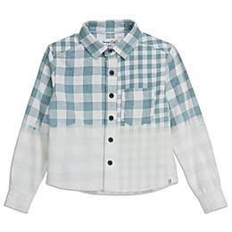 Sovereign Code™ Umbre Plaid Shirt in Seafoam