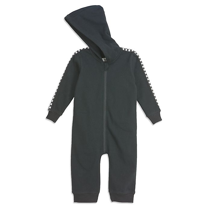Alternate image 1 for Sovereign Code® Checkered Trim Hooded Coverall in Black