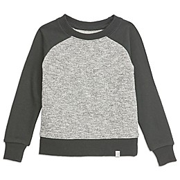 Sovereign Code™ Black Text Raglan Sweatshirt in Black