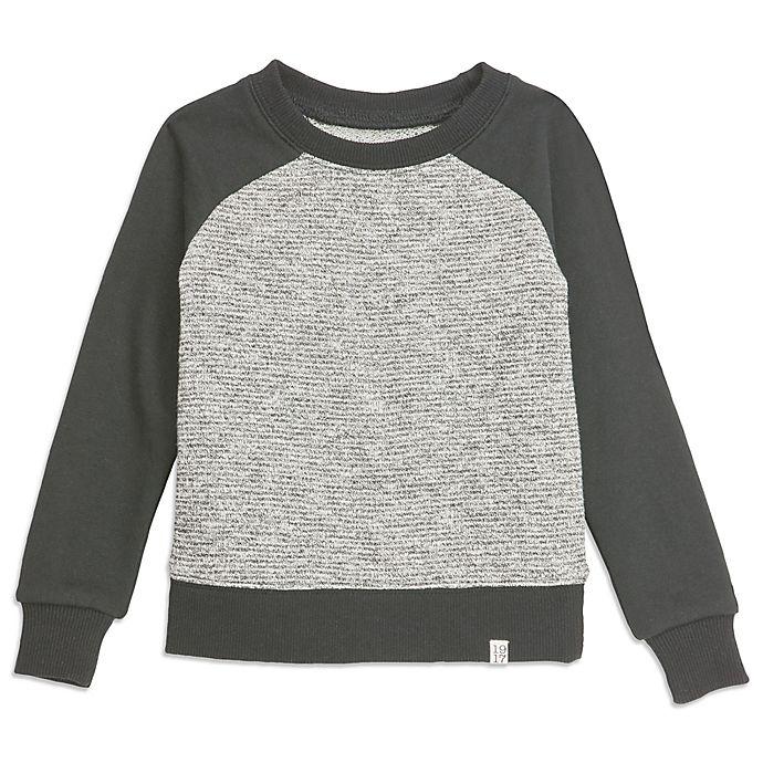 Alternate image 1 for Sovereign Code™ Black Text Raglan Sweatshirt in Black