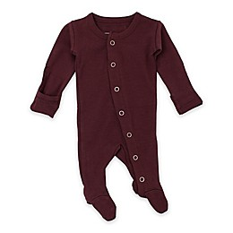 L'ovedbaby® Organic Cotton Footie in Eggplant