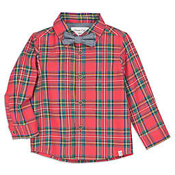 Sovereign Code™ Size 12M 2-Piece Christmas Plaid Shirt and Bow Tie Set