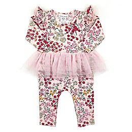Kidding Around Floral Tutu Romper
