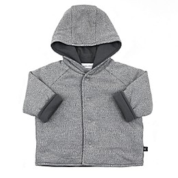Kidding Around Knit Hooded Jacket in Grey