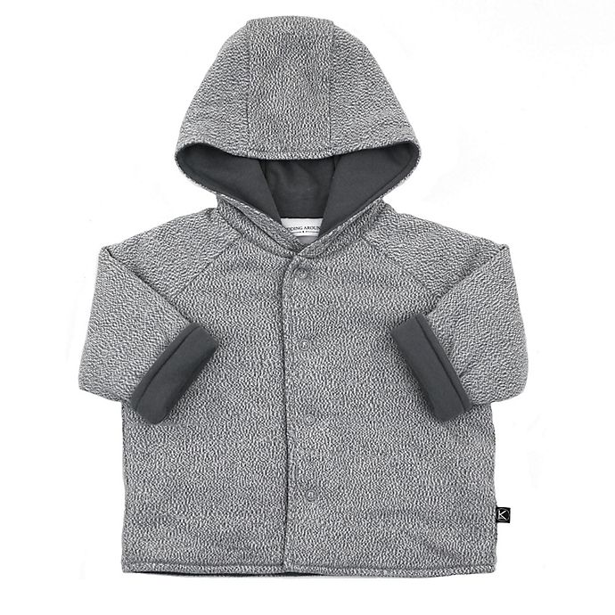 Alternate image 1 for Kidding Around Knit Hooded Jacket in Grey