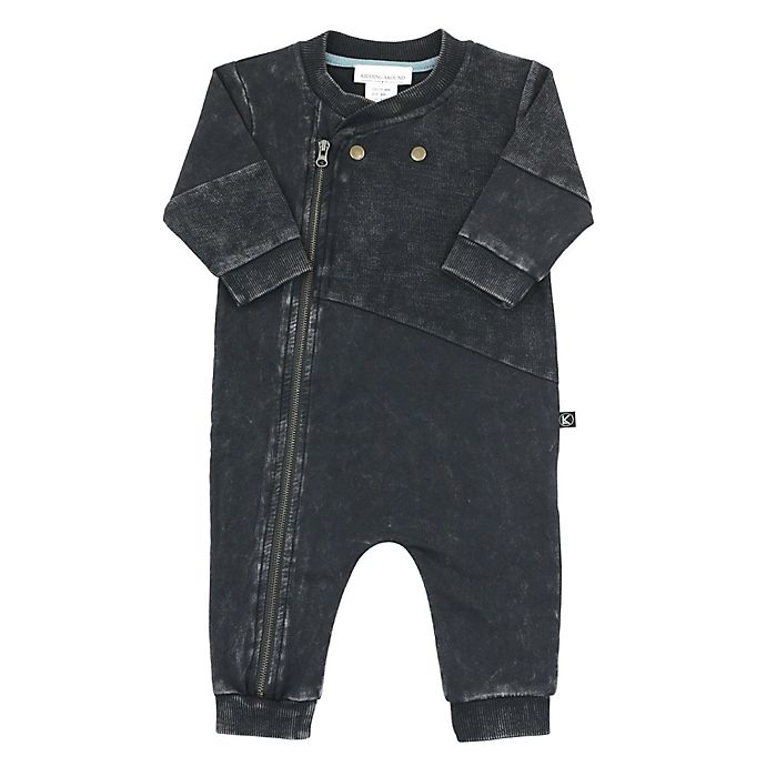 Alternate image 1 for Kidding Around Biker Coverall in Charcoal
