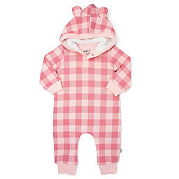 Mini Heroes™ Plaid Hooded Coverall in Pink
