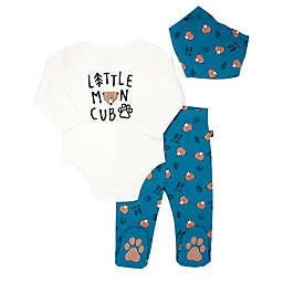 Mini Heroes™ 3-Piece Little Cub Bodysuit, Footed Pant, and Bandana Set