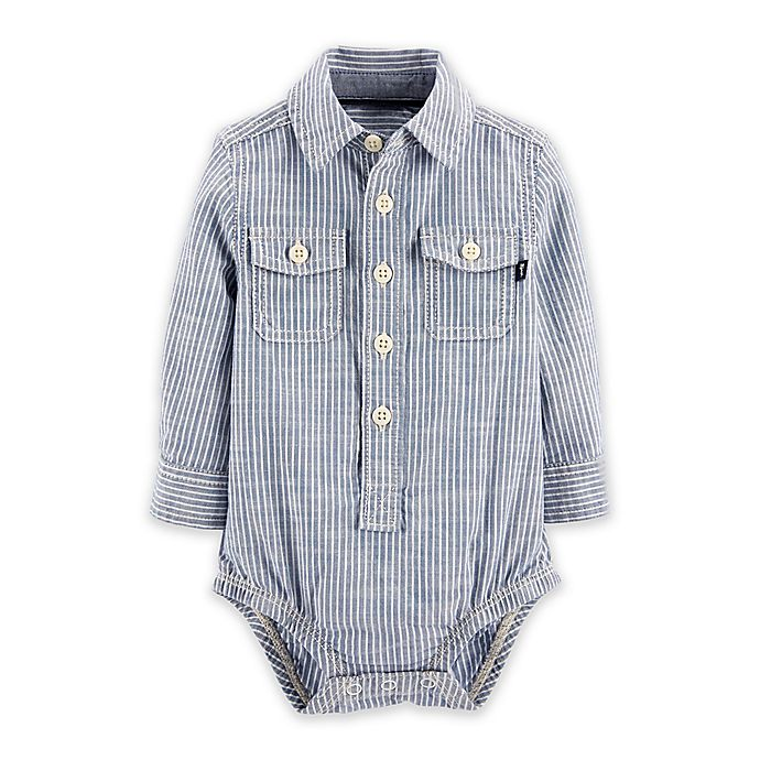 Alternate image 1 for OsghKosh B'gosh® Hickory Stripe Bodysuit