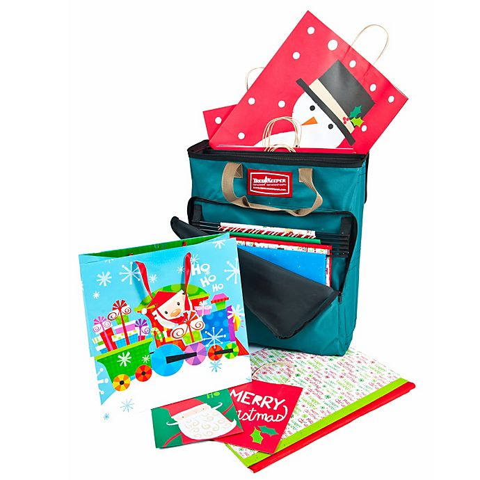 Alternate image 1 for Gift Bag Organizer with Tissue Paper in Green