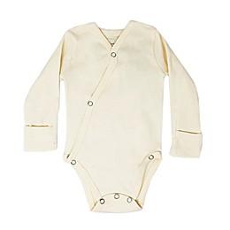 L'ovedbaby® Kimono Long Sleeve Organic Cotton Bodysuit in Beige