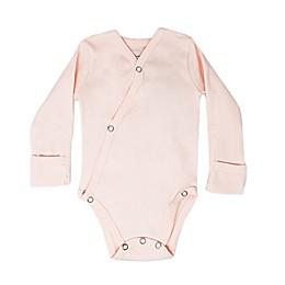 L'ovedbaby® Kimono Organic Cotton Long Sleeve Bodysuit in Blush