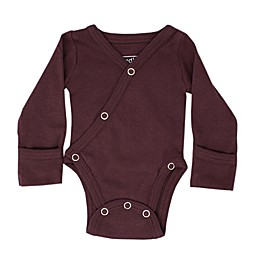 L'ovedbaby® Kimono Organic Cotton Long Sleeve Bodysuit in Eggplant
