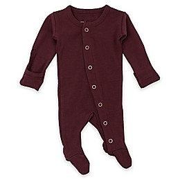 L'ovedbaby® Preemie/Newborn Organic Cotton Footed Overall in Eggplant