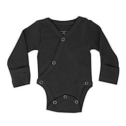 L'ovedbaby® Kimono Organic Cotton Bodysuit in Grey