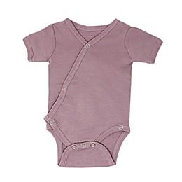 L'ovedbaby® Short Sleeve Kimono Organic Cotton Bodysuit in Lavender
