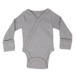 L'ovedbaby® Kimono Organic Cotton Bodysuit in Light Grey