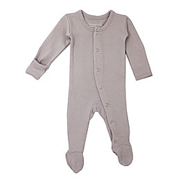 L'ovedbaby® Organic Cotton Footed Overall in Light Grey
