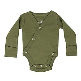 L'ovedbaby® Organic Cotton Long Sleeve Kimono Bodysuit in Sage