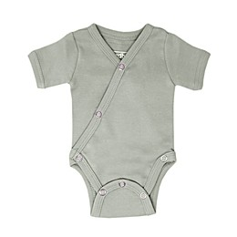 L'ovedbaby® Organic Cotton Short Sleeve Kimono Bodysuit in Seafoam