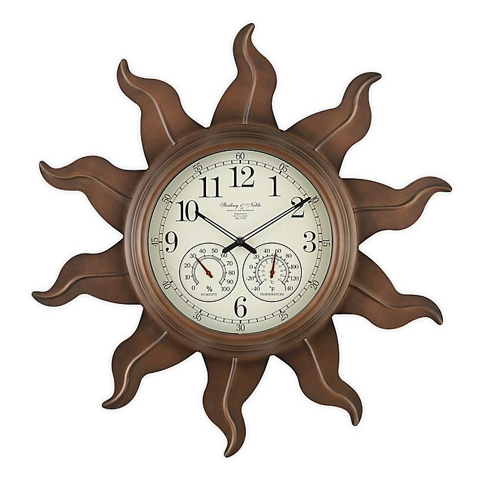 Alternate image 1 for Sterling & Noble Sun Indoor/Outdoor Clock