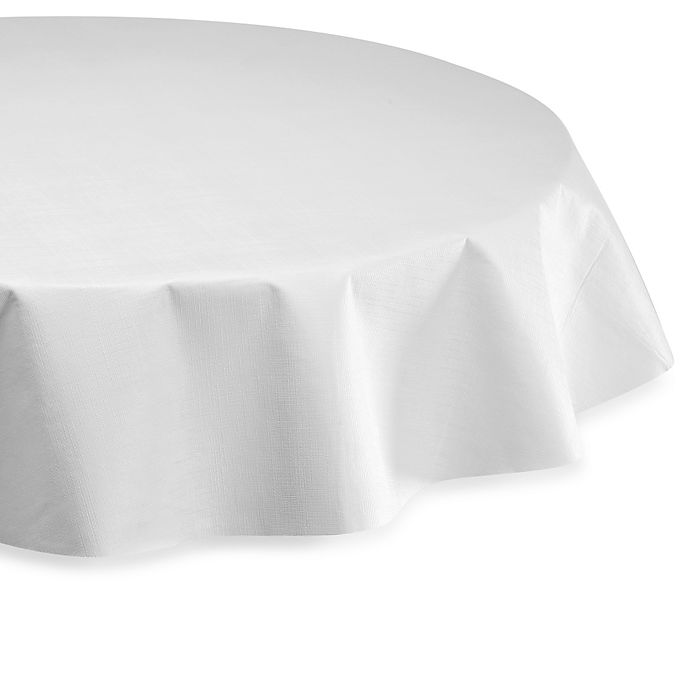 Alternate image 1 for Vinyl 52-Inch Round Table Pad in White