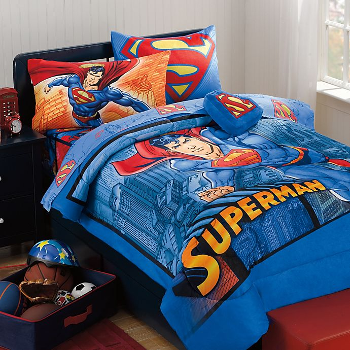 Superman Super Upper Hand Bedding Set | Bed Bath & Beyond