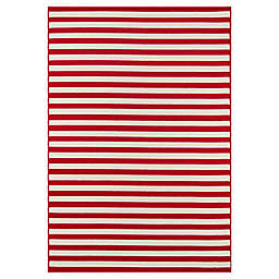 Momeni® Baja Stripe 1'8 x 3'7 Accent Rug in Red